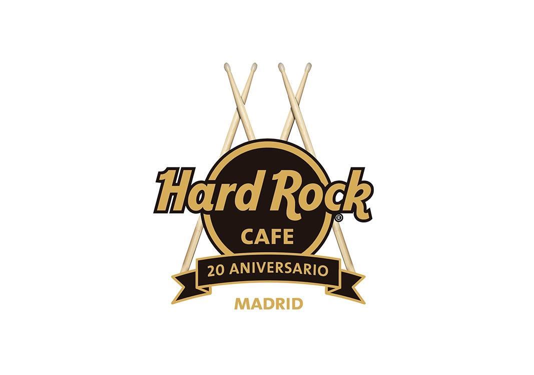 Logo 20 aniversario Hard Rock Madrid