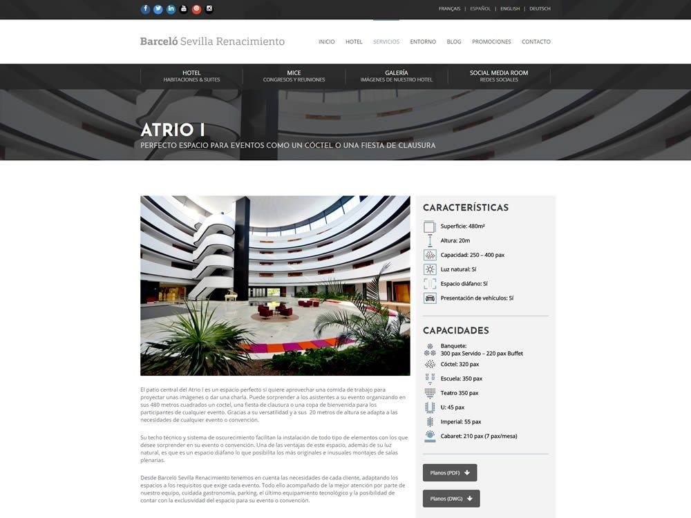 Nueva web para Barceló Sevilla Events