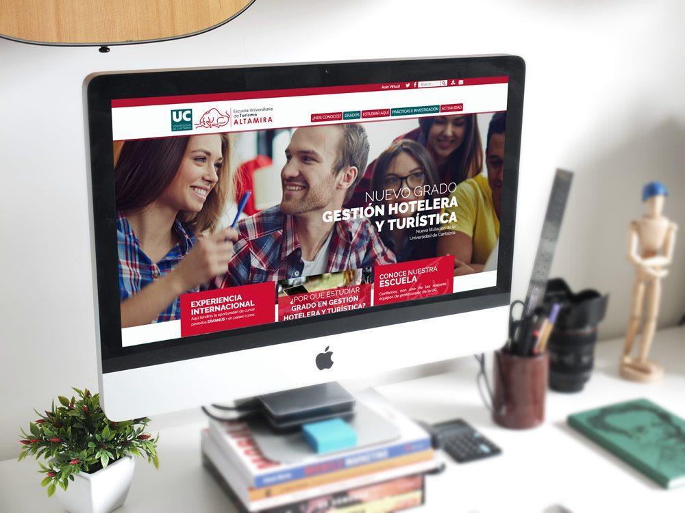 Nueva web para Escuela Universitaria de Turismo Altamira (Univ. Cantabria)