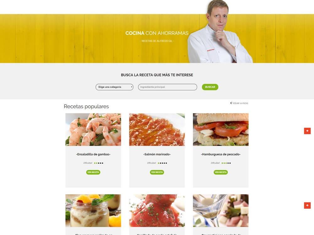 Nueva web para Supermercados Ahorramas