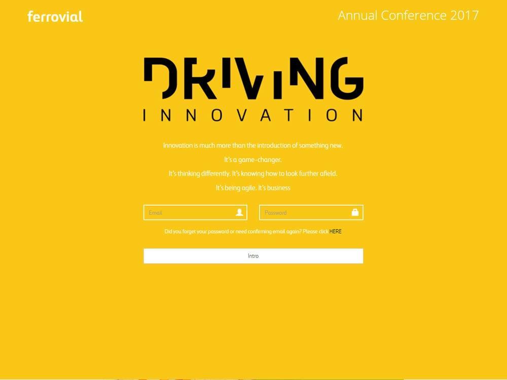 Web para la convención anual de Ferrovial